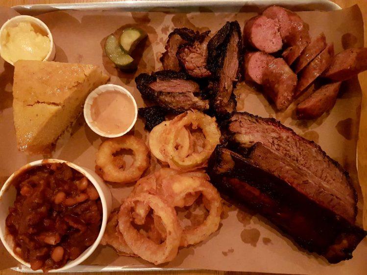RedEye Smokehouse platter