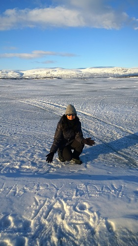 Abisko Frozen Lake