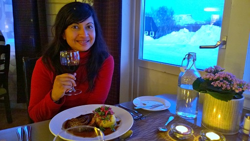 Dinner at Abisko Mountain Lodge