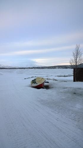 Frozen Boat in Abisko
