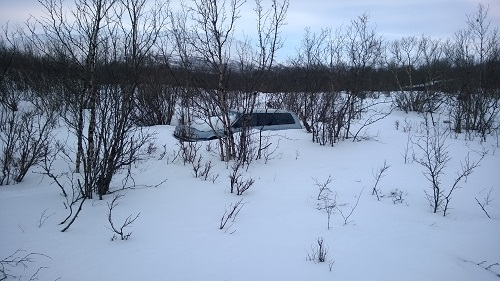 Frozen Car in Abisko