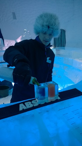 Ice Bar Bartendar