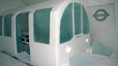 Ice Hotel London Tube