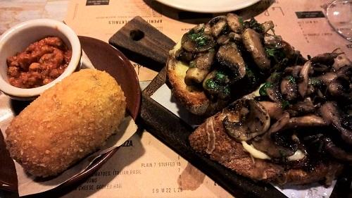 Mushroom Bruschetta Suppli Mozzarella