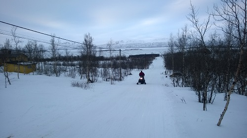 Skidoo Snowmobile in Abisko