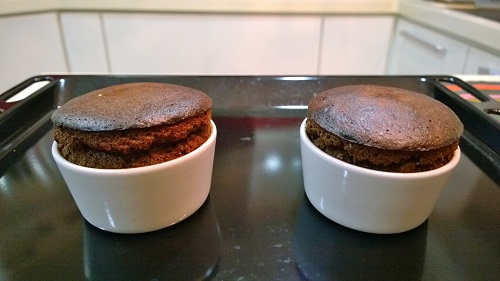 Molten Chocolate Cake in Oven