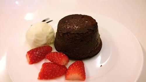 Molten Chocolate Cake on Plate