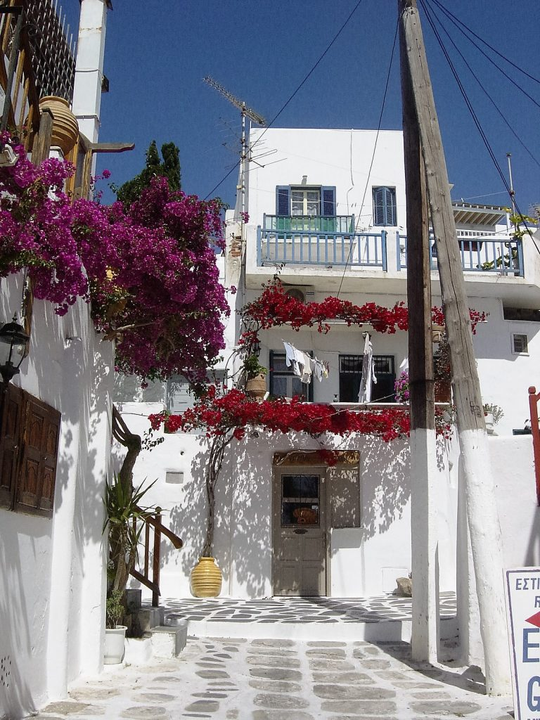 Winding Streets Of Mykonos