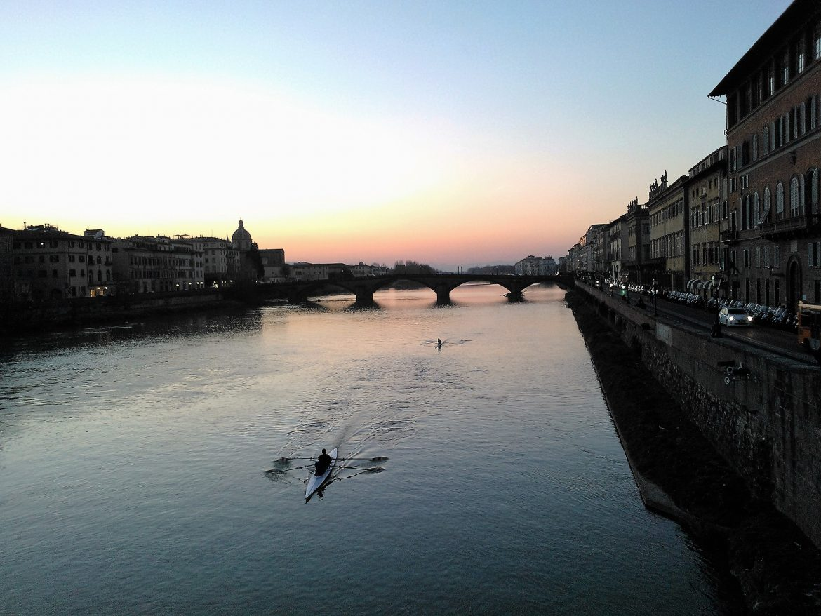 Sunset in Florence Featured