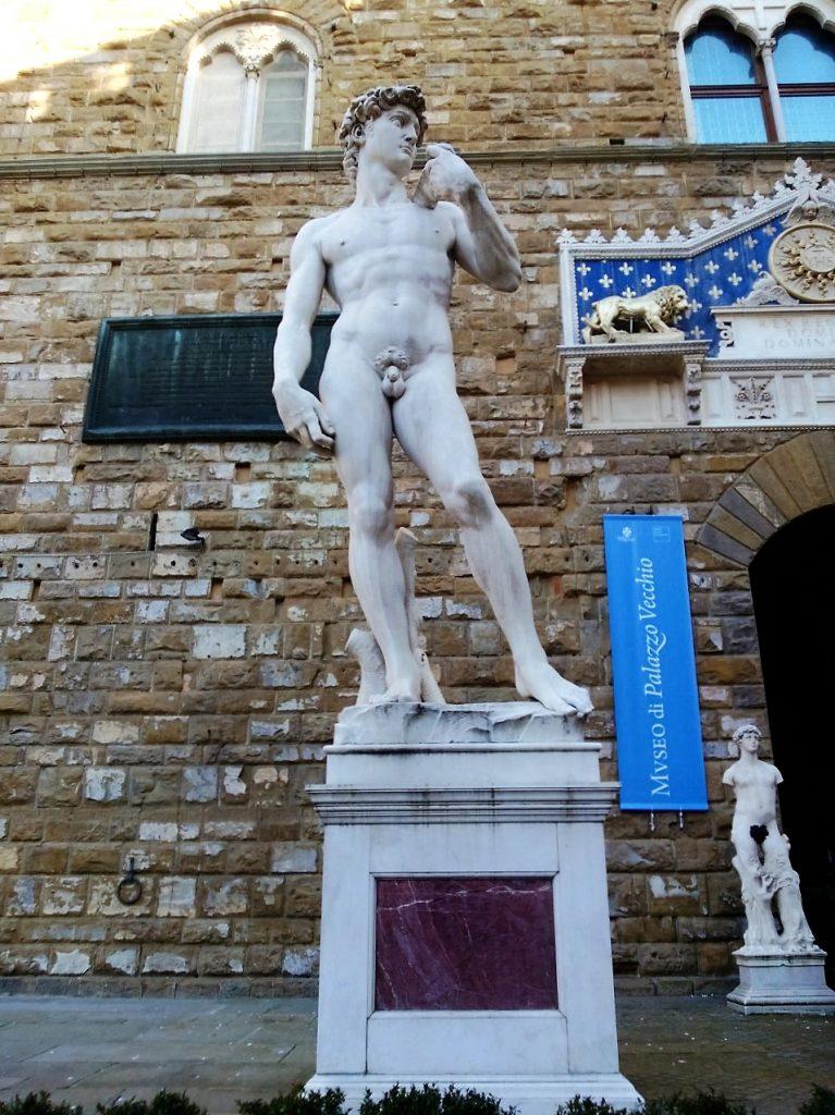 Florence Replica of David at Piazza Della Signoria