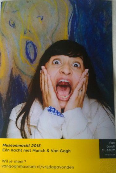 Amsterdam Van Gogh scream kooky
