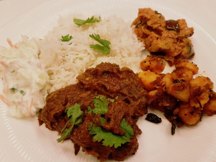Beef Short Rib Curry on a plate