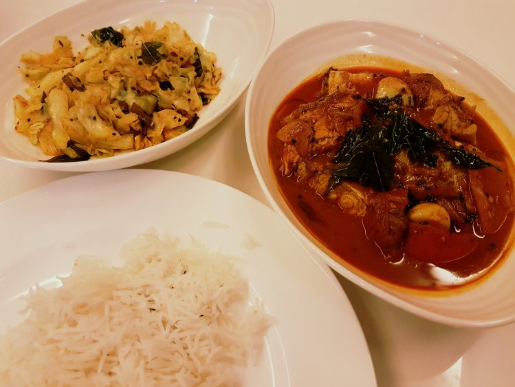 Kerala Fish Curry meal