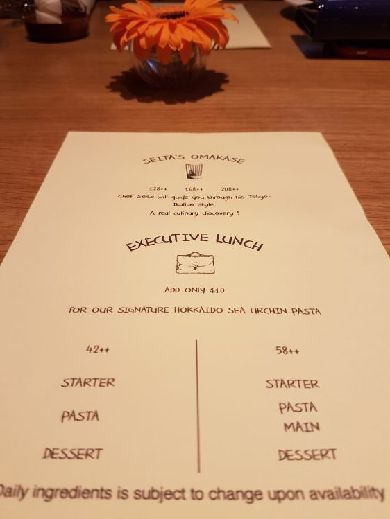 Terra Set Lunch Menu