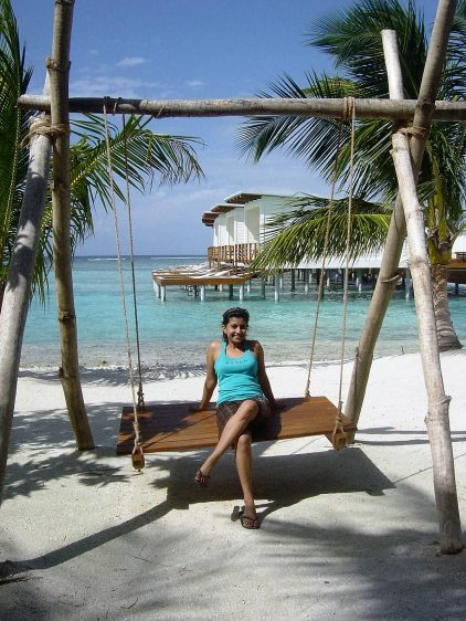 Kandooma Maldives Me on a Swing