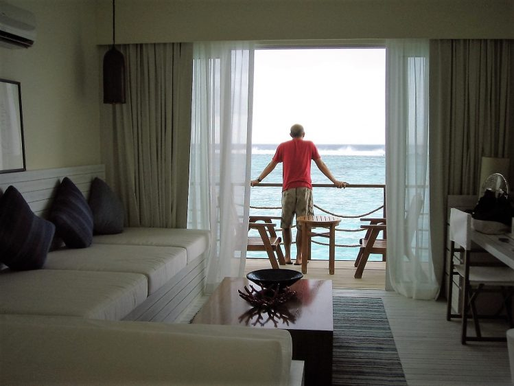 Kandooma Maldives Villa Interior View looking out