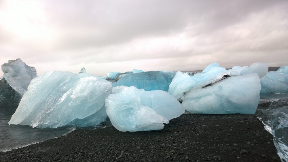 Iceland Ice Beach Ice Rocks