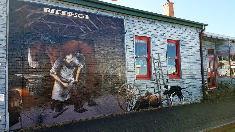 Tasmania Sheffield Mural Blacksmith Pic