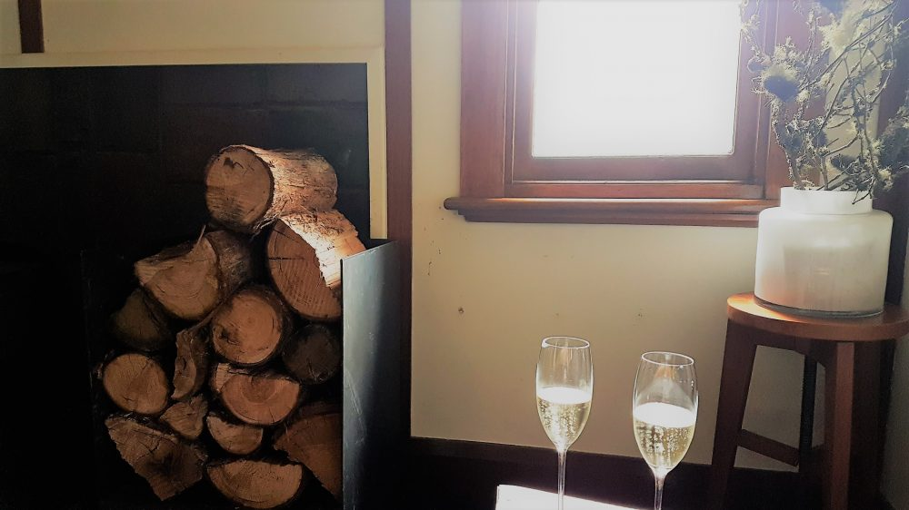 Tasmania Pumphouse Point reception bubbly