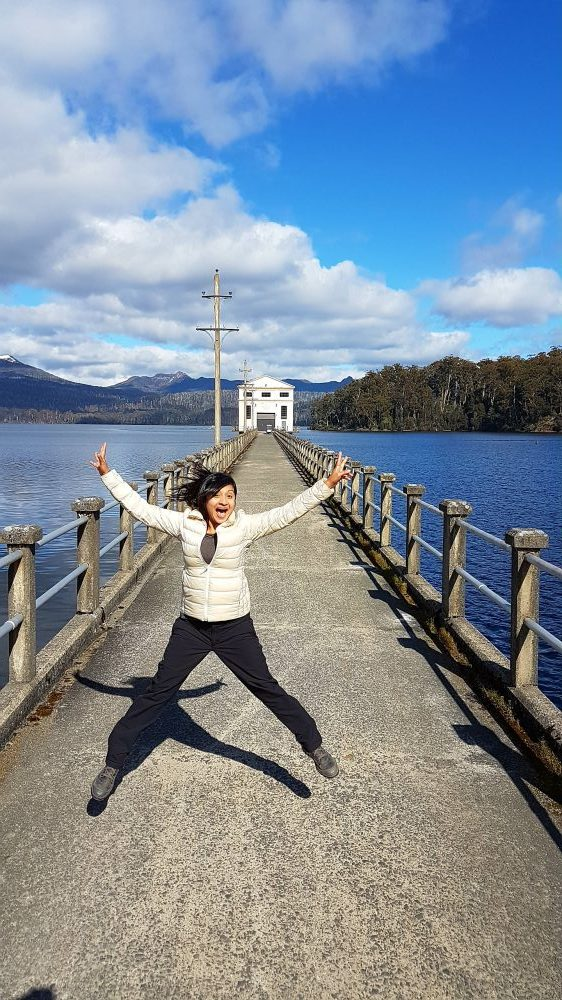 Tasmania Pumphouse Point jump shot