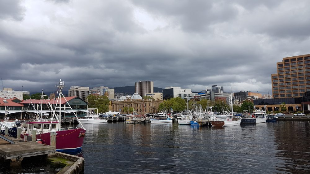 Hobart City Harbour View