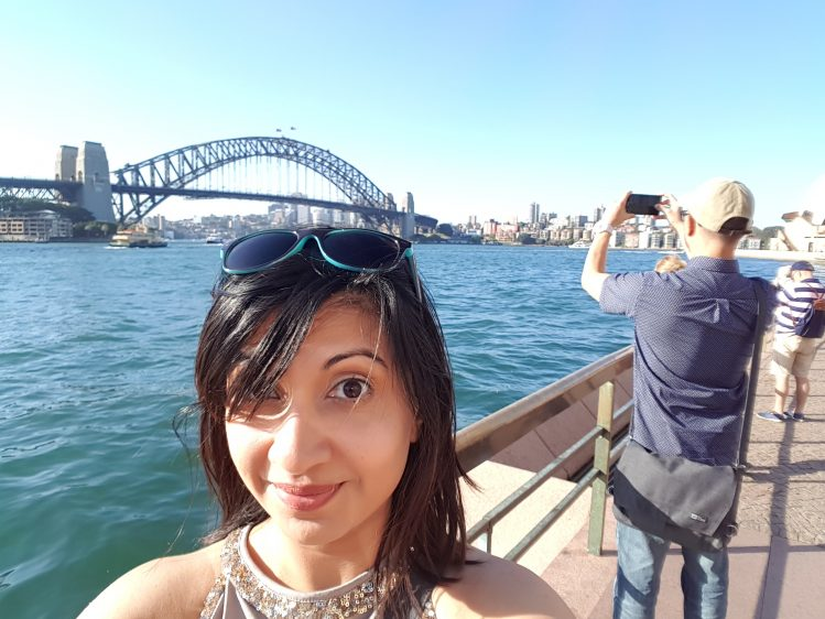 Sydney bridge view and me