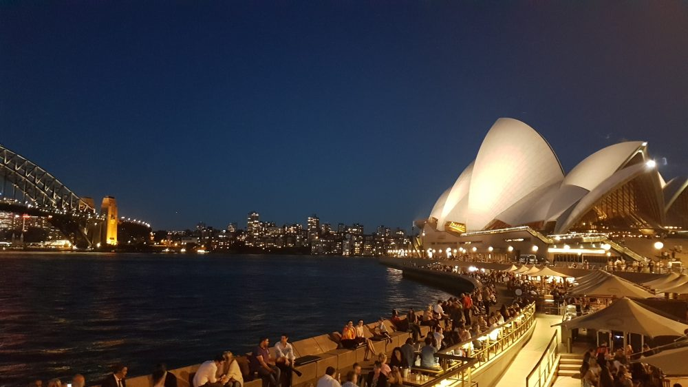 Sydney Harbour night view