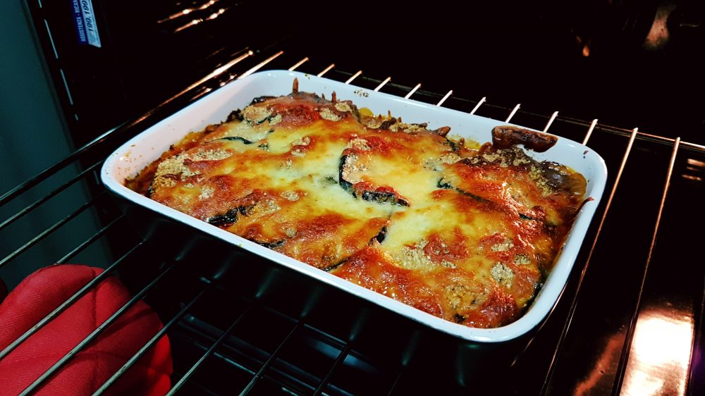 Eggplant Parmigiana from oven