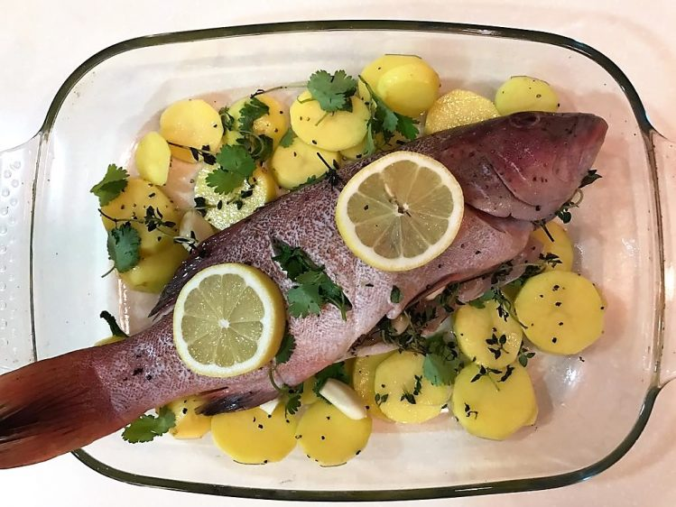 Baked Fish - before cooking