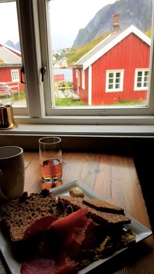 The Lofoten Islands Norway - Breakfast at Gammelbua