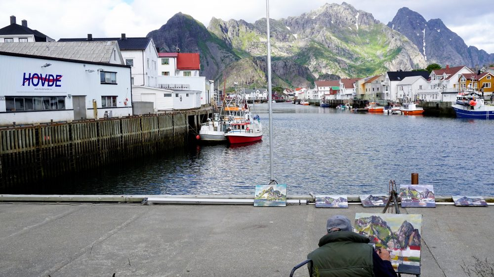 The Lofoten Islands Norway - Painting Henningsvaer