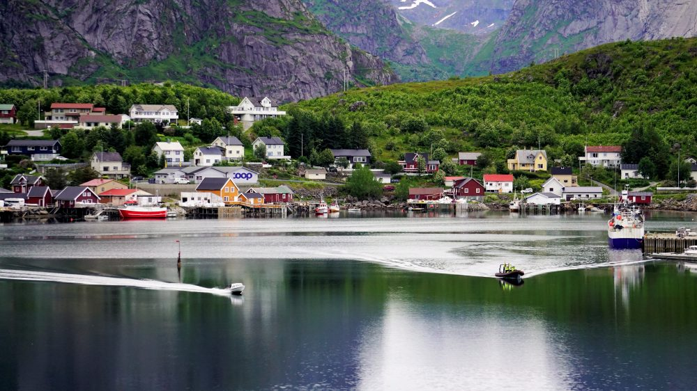The Lofoten Islands Norway - Boats on water