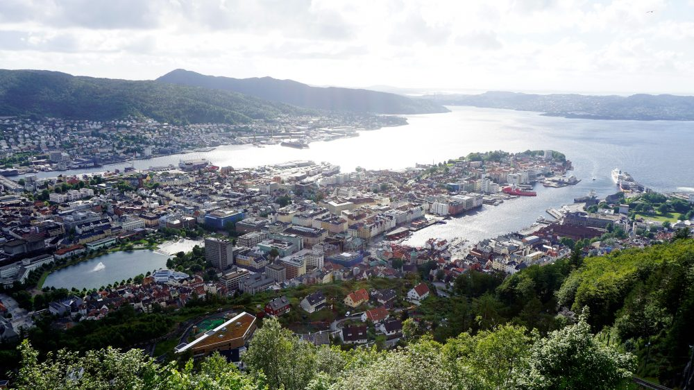Bergen View from Mt Floyen