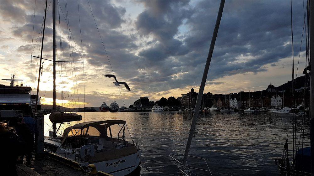 Bergen Harbour dusk