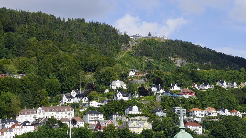 Bergen view of funicular