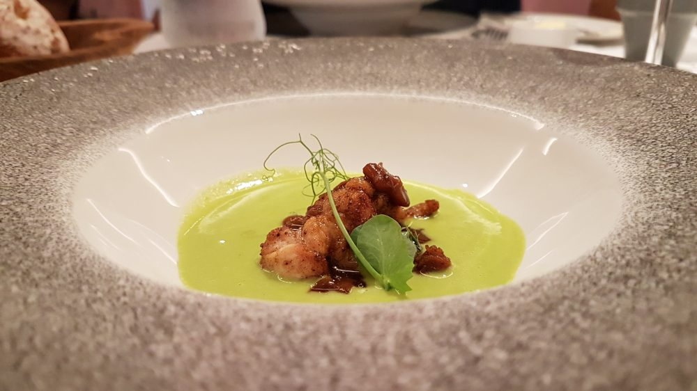 Tablescape Sweetbreads Pea Soup 2