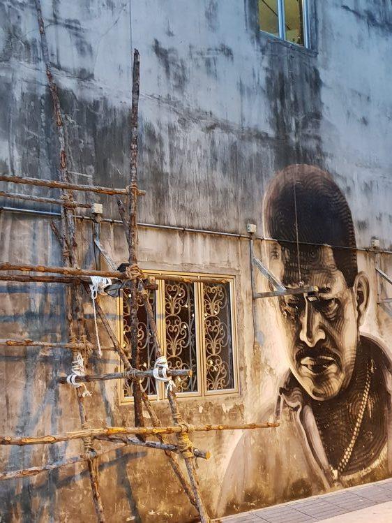 Sideways - Mural outside